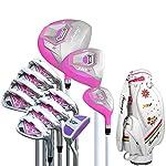 Decorazione-di-mobili-Set-di-mazze-da-golf-Golf-da-donna-per-principianti-Set-di-mazze-da-golf-da-12-pezzi-Pink-Golf-Putter-Set-di-mazze-da-golf-per-guanti-Accessori-da-golf-Colore-Taglia-unica