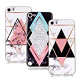 IVY Basic Cases iPod 5/6 Marble TPU Case Cover [3-Pack][Anti-Shock][Anti-Scratch] for Apple iPod Touch 5/6 - White,Black,Pink
