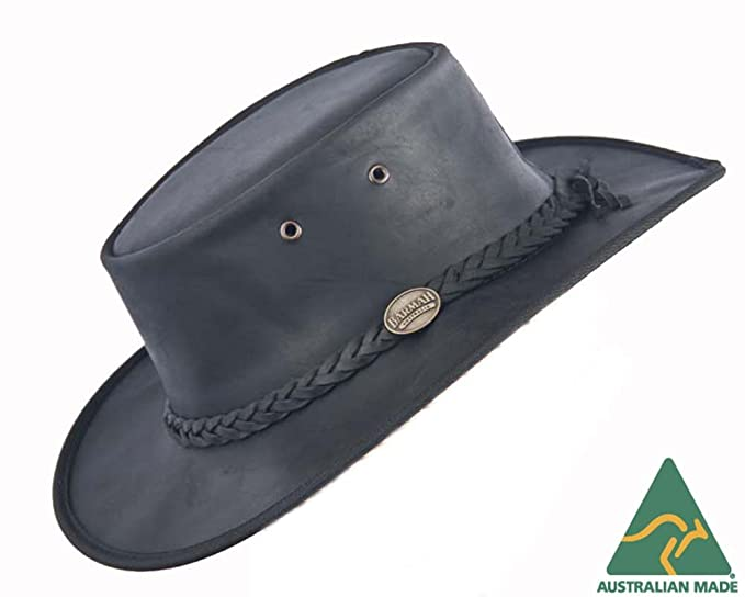 e19029d4 Real Australian Leather Hat. Original Hat-in-a-Bag. Made in ...