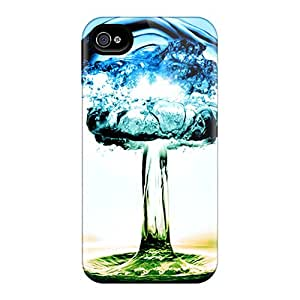 New Design Shatterproof AMY7010bagB Case For Iphone 4/4s (color Drop)