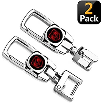 Amazon.com: Goshion 2 Pack Car Logo Key Chain Key Ring for ...