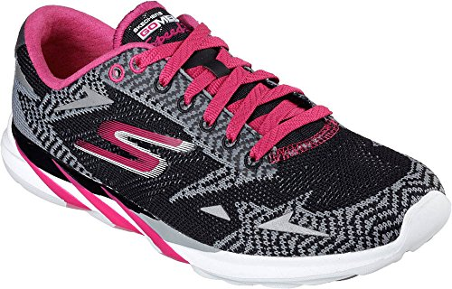 Skechers Performance Donna Go Meb Speed 3 2016 Scarpa Da Corsa Nero / Rosa
