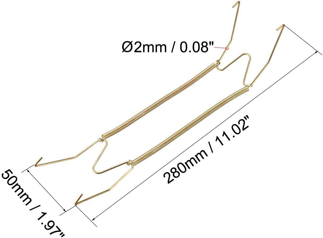 2 pezzi Sourcingmap con protezione per le punte Ganci decorativi da parete invisibili placcati in zinco