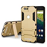 Nexus 6P Case - Swees® Hybrid Dual Layer Armor Hard Shockproof Drop Proof Full Body Impact Protective Case Sturdy Kickstand Feature Slim Fit Cover for Google Nexus 6P by Huawei 5.7