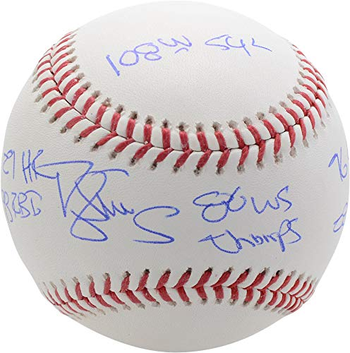Darryl Strawberry New York Mets Autographed 1986 World Series Baseball with Multiple Inscriptions - Limited Edition #18 of 24 - Fanatics Authentic Certified
