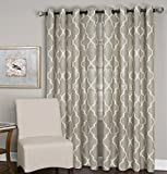 Elrene Home Fashions 026865853544 Grommet Top Linen Look Single Panel Window Curtain Drape, 52″ x 84″, Linen Review