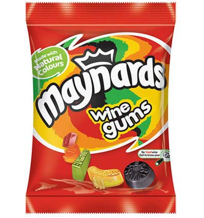 British Maynard's Wine Gums - Case Of 12 x 190g Bags by Lion