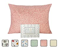Zack & Ali Organic Toddler Pillowcase, Pink Dot, 13-Inch-by-18-Inch