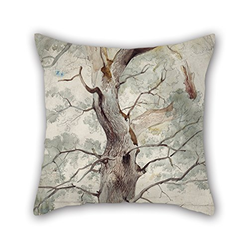 [Alphadecor The Oil Painting Johann Caspar Nepomuk Scheuren - Study Of A Tree Throw Pillow Covers Of ,18 X 18 Inches / 45 By 45 Cm Decoration,gift For Deck Chair,family,wedding,bf,kids Boys,father] (Hobbes Costumes For Sale)