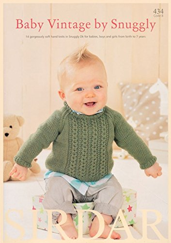 Sirdar Baby Vintage by Snuggly 434 Knitting Pattern Book DK Sirdar Yarn Patterns