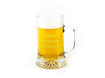 Regalo Original Jarra de Cerveza de Vidrio grabada 50cl: Amazon.es: Hogar