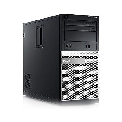 Dell 390 Tower - Intel Core i3 3.10GHz, 8GB DDR3, New 1TB HDD, Windows 7 Pro 64-Bit, WiFi (Certified Refurbished)