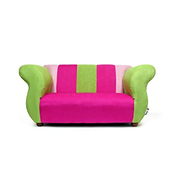 KEET Fancy Kidu0027s Sofa, Pink/Green