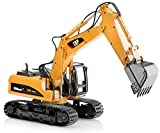 Top Race Metal Diecast Excavator Construction Truck Toy Tractor - Heavy Metal Excavator Model Free wheeler Die Cast Construction Toy 1:40 Scale (TR 211D)