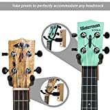 String Swing CC01UK-A Hardwood Home and Studio Wall Mount Ukulele Hanger or Mandolin Hanger - Ash