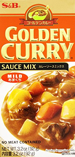 S & B Golden Curry Sauce Mix, Mild, 3.2 oz