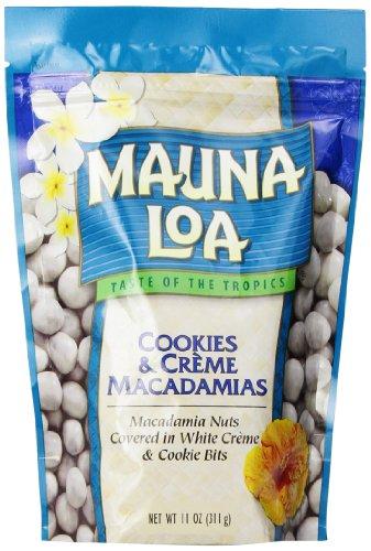 Hawaiian Macadamia Nut Cookies (Mauna Loa Macadamias Nuts, Cookies and Creme, 11 Ounce)