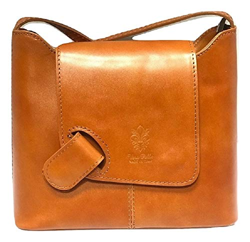 - LaGaksta Isabella Leather Crossbody Bag Tan Cognac