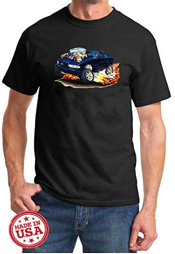 Maddmax Car Art 1994 1995 1996 Impala SS Cartoon Muscle Car Design Tshirt Large Black