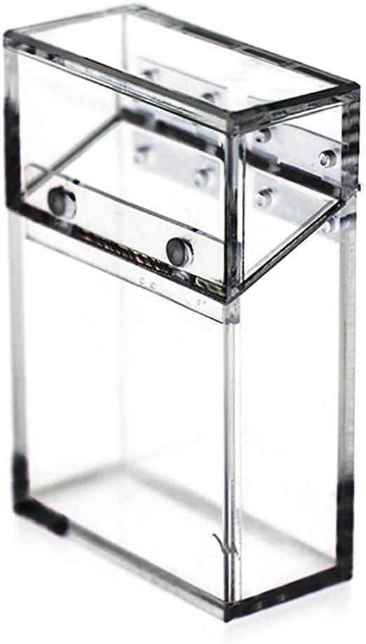 KINTRADE Bolsillo de Cigarrillo acrílico Transparente Caja Brillo ...