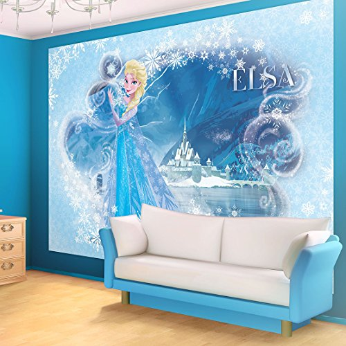 Disney Frozen Elsa Light Blue Wallpaper Mural Part 78
