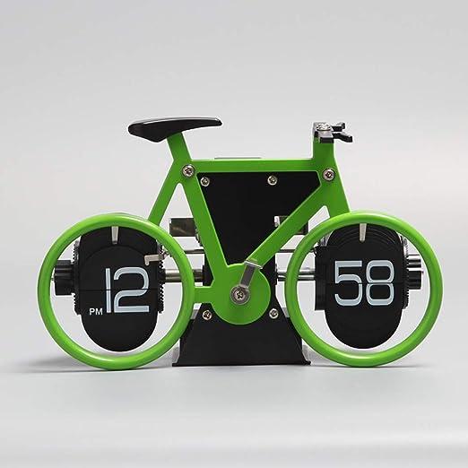 Reloj De Mesa Bicicleta Reloj Giratorio Modelo De Bicicleta ...