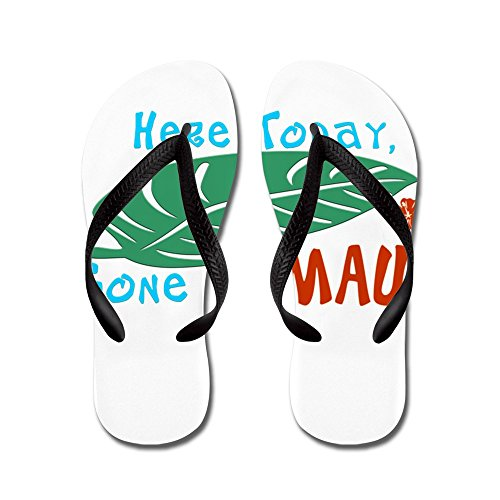 CafePress Here Today Gone To Maui - Flip Flops, Funny Thong Sandals, Beach Sandals Black