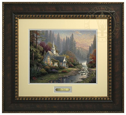 The Forest Chapel - Thomas Kinkade Prestige Home Collection (Bronze Frame) by Thomas Kinkade