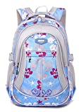 Tibes Oxford Backpack Printed Cute Waterproof Backpack School Backpack for Girls Blue