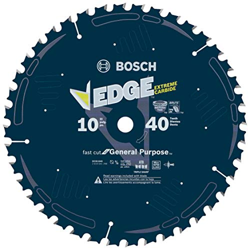 Bosch DCB1040 Daredevil 10-Inch 40-Tooth General Purpose Circular Saw Blade