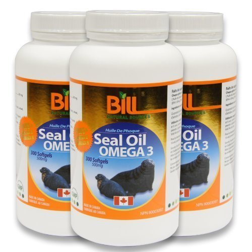 Bill Natural Sources Seal Oil OMEGA 3 (3 Bottles) by Bill