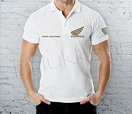 Honda GoldWing polo camiseta, Polo T Shirt Camiseta de, (blanco ...