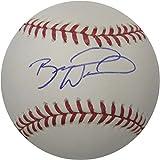 Brandon Wood Signed Baseball - Major League Anaheim Angels - Autographed Baseballs