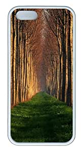 Apple iPhone 5S Cases - Path Lined With Trees TPU Hard Plastic Case for iPhone 5/5S - White