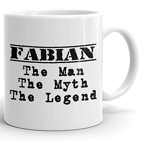 Best Personalized Mens Gift! The Man the Myth the Legend - Coffee Mug Cup for Dad Boyfriend Husband Grandpa Brother in the Morning or the Office - F Set 1