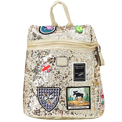 Meliya - Bolso mochila para mujer, dorado (dorado) - FS-bb-01259-01YA Dorado