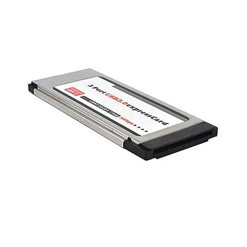 Genérico - Tarjeta Expresscard a USB 3.0 (2 puertos, 34 mm ...