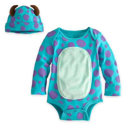 [Disney Store Sulley Onesie Costume Bodysuit Size 12-18 Months with Horned Hat] (Sully From Monsters Inc Costume)