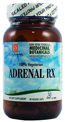 - L A NATURALS Adrenal Rx Raw Formula 90 Vgc, 0.02 Pound