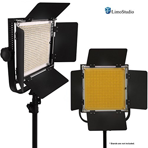 Limostudio 2 Pack Led 600 Photographic Lighting Panel With Digital