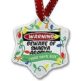 Personalized Name Christmas Ornament, Beware of the Shagya Arabian, Horse NEONBLOND