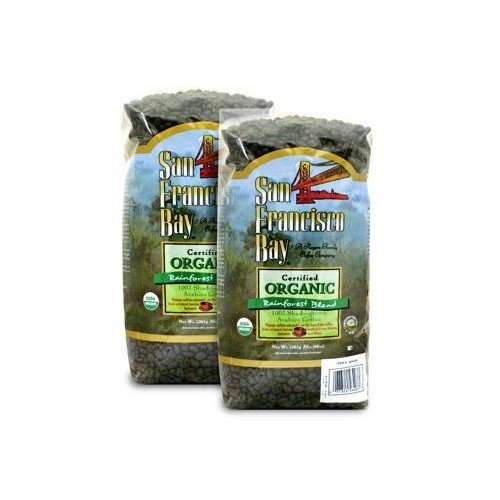 San Francisco Bay Organic Rain Forest Blend Whole Bean Coffee 3 lb. Bag 2-pack (Best Coffee Beans In San Francisco)