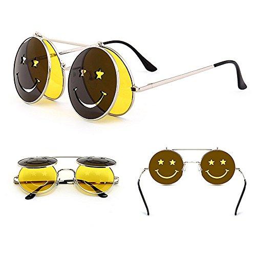 para Estilo Protección Conducir Gafas Peggy C6 Mujer Sol abatibles UV Vacaciones Color Verano Steampunk para de Playa C4 Gu EqE07A