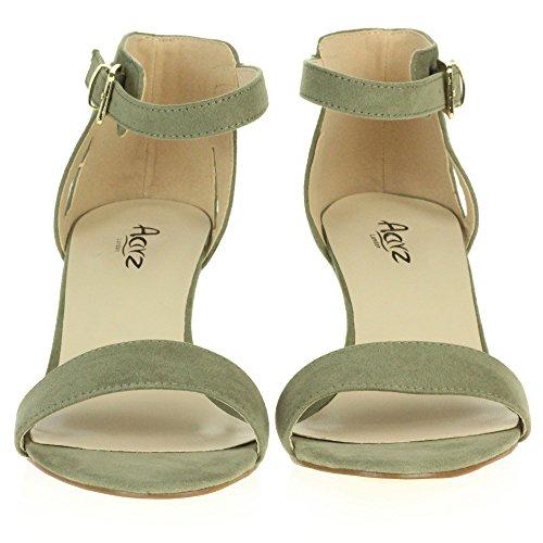 de Chaussures Talon Compensé Mariage Fête Mariée Vert Plate Promo AARZ Brillant Dames Soir des Sandales Femmes Forme LONDON Taille qOna7wg0