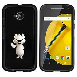 YiPhone /// Prima de resorte delgada de la cubierta del caso de Shell Armor - Nariz del oso polar de dibujos animados Negro - Motorola Moto E2 E2nd Gen