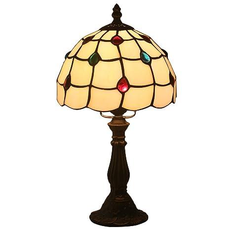 FABAKIRA Lámpara de Mesa 8 Pulgadas Estilo de Tiffany ...