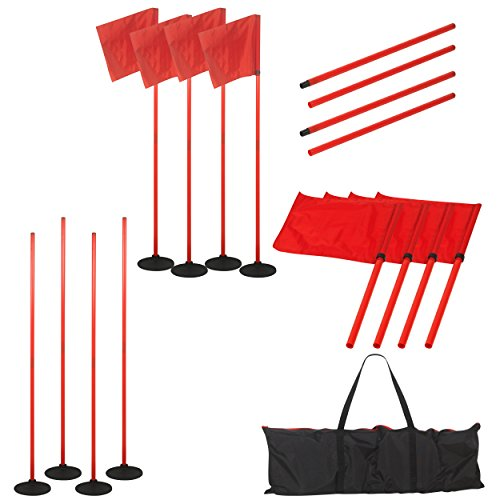 Soccer Corner Flag Carry Bag - American Challenge Soccer Sports Coaching Sticks Flags (Red, Standard)