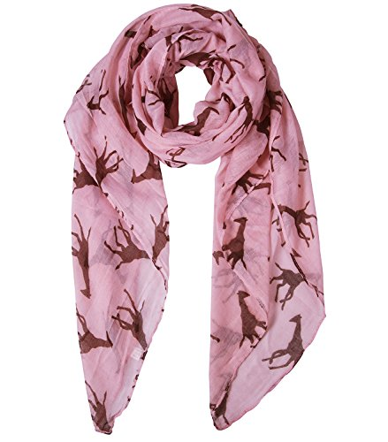 Fasker Animal Scarf Panda Giraffe Print Lightweight Voile Fashion Scarves Shawl