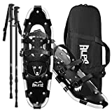 ALPS Adult All Terrian Snowshoes Set for Men,Women,Youth with Trekking Poles,Carrying Tote Bag14 /17' / 22'/25'/27'/30'