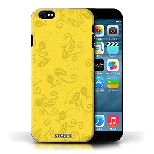 Etui / Coque pour Apple iPhone 6/6S / Jaune conception / Collection de Motif Coccinelle